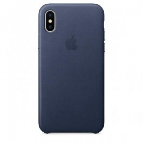 Чехол для смартфона Apple iPhone X Leather Case - Midnight Blue (MQTC2)