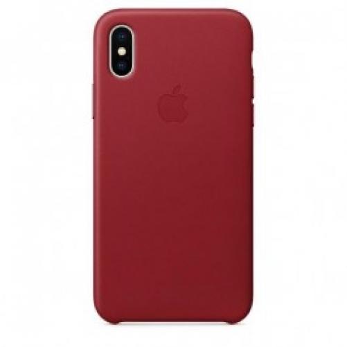 Чехол для смартфона Apple iPhone X Leather Case - PRODUCT RED (MQTE2)