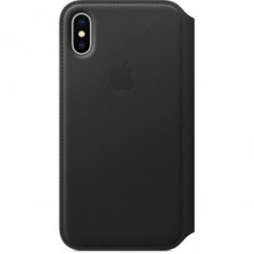 Чехол для смартфона Apple iPhone X Leather Folio - Black (MQRV2)