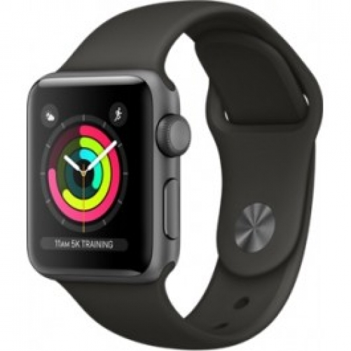 Смарт-часы Apple  Watch Series 3 (GPS) 38mm Space Gray Aluminum w. Gray Sport B. - Space Gray (MR352 FS/A)         Новинка