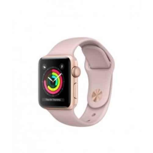 Смарт-часы Apple Watch Series 3 (GPS) 38mm Gold Aluminum w. Pink Sand Sport B. - Gold (MQKW2)         Новинка