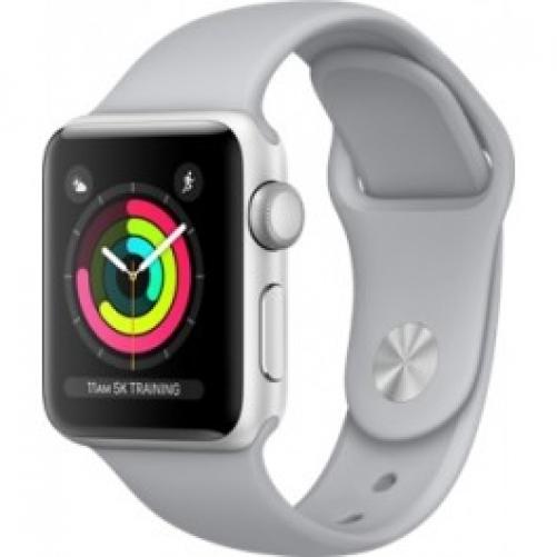 Смарт-часы Apple Watch Series 3 (GPS) 38mm Silver Aluminum w. Fog Sport B. - Silver (MQKU2)         Новинка