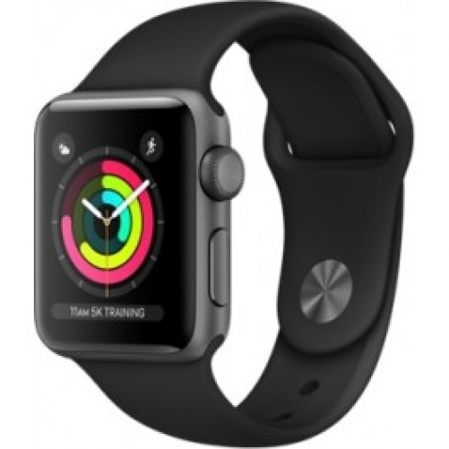 Смарт-часы Apple Watch Series 3 (GPS) 38mm Space Gray Aluminum w. Black Sport B. - Space Gray (MQKV2FS/A)