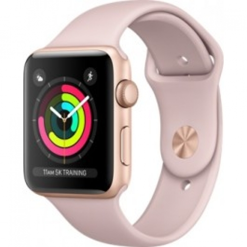 Смарт-часы Apple Watch Series 3 (GPS) 42mm Gold Aluminum w. Pink Sand Sport B. - Gold (MQL22 UA/A)
