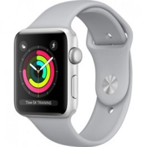 Смарт-часы Apple Watch Series 3 (GPS) 42mm Silver Aluminum w. Fog Sport B. - Silver (MQL02 UA/A)