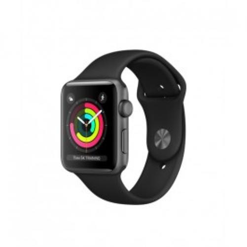 Смарт-часы Apple Watch Series 3 (GPS) 42mm Space Gray Aluminum w. Black Sport B. - Space Gray (MQL12 UA/A)         Новинка