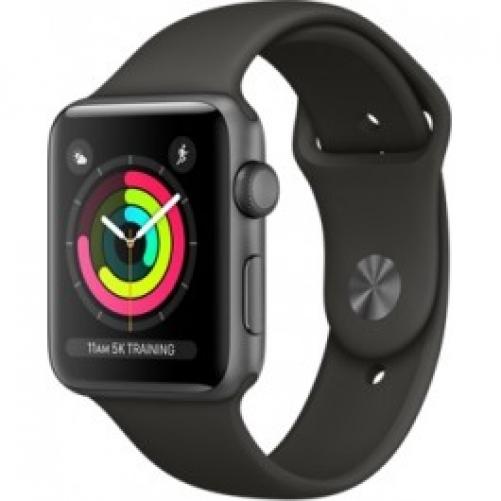 Смарт-часы Apple Watch Series 3 (GPS) 42mm Space Gray Aluminum w. Gray Sport B. - Space Gray (MR362)