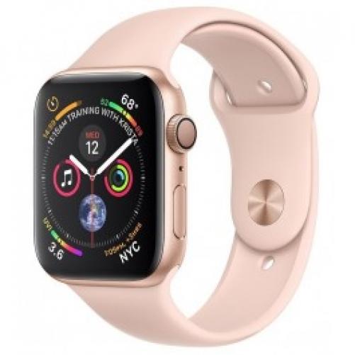 Смарт-часы Apple Watch Series 4 GPS 44mm Gold Alum. w. Pink Sand Sport b. Gold Alum. (MU6F2 UA/A)