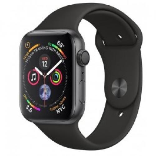 Смарт-часы Apple Watch Series 4 GPS 44mm Gray Alum. w. Black Sport b. Gray Alum. (MU6D2)