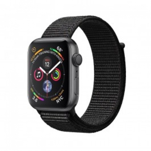 Смарт-часы Apple Watch Series 4 GPS 44mm Gray Alum. w. Black Sport l. Gray Alum. (MU6E2 UA/A)