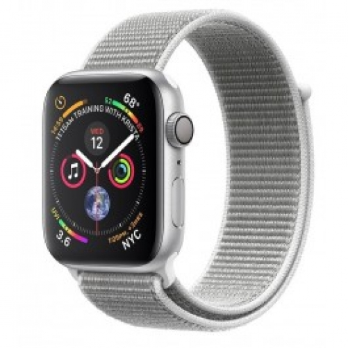 Смарт-часы Apple Watch Series 4 GPS 44mm Silver Alum. w. Seashell Sport l. Silver Alum. (MU6C2 )