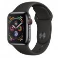 Смарт-часы Apple Watch Series 4 GPS + LTE 40mm Black Steel w. Black Sport b. Black Steel (MTUN2, MTVL2)
