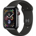 Смарт-часы Apple Watch Series 4 GPS + LTE 44mm Black Steel w. Black Sport b. Black Steel (MTV52)             Новинка