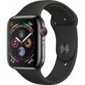 Смарт-часы Apple Watch Series 4 GPS + LTE 44mm Black Steel w. Black Sport b. Black Steel (MTV52, MTX22)