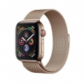 Смарт-часы Apple Watch Series 4 GPS + LTE 44mm Gold Steel w. Gold Milanese l. Gold Steel (MTV82)             Новинка