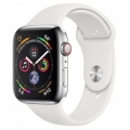 Смарт-часы Apple Watch Series 4 GPS + LTE 44mm Steel w. White Sport b. Steel (MTV22)             Новинка