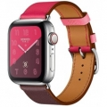Смарт-часы Apple Watch Hermes Series 4 GPS + LTE 40mm Steel w. Bordeaux/Rose Extreme/Rose Azalee Leather (MU702)             Новинка