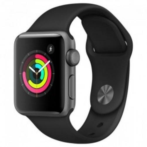 Смарт-часы Apple Watch Series 3 GPS 42mm Space Gray with Black Sport Band (MTF32)
