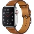 Смарт-часы Apple Watch Hermes Series 4 GPS + LTE 40mm Steel w. Fauve Grained Barenia Leather (MU6M2)             Новинка