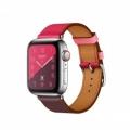 Смарт-часы Apple Watch Series 4 Hermes GPS + Cellular 40mm Steel c. w. Bordeaux/Rose/Swift Leather Single Tour (MU6N2             Новинка