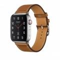Смарт-часы Apple Watch Series 4 Hermes GPS + Cellular 44mm Steel c. w. Fauve Barenia Leather Single Tour (MU6V2)             Новинка