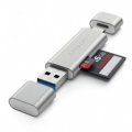 Картридер Satechi Aluminum Type-C, USB 3.0 and MicroSD Card Reader Gold (ST-TCCRAG)
