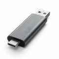 Картридер Satechi Aluminum Type-C USB 3.0 and Micro/SD Card Reader Space Gray (ST-TCCRAM)
