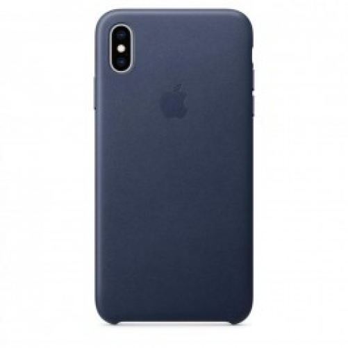 Чехол для смартфона Apple iPhone XS Max Leather Case - Midnight Blue (MRWU2)