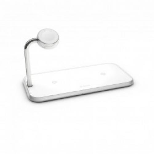 Беспроводное зарядное устройство Zens Dual Aluminium Wireless Charger + Apple Watch 10W White (ZEDC05W/00)             Новинка