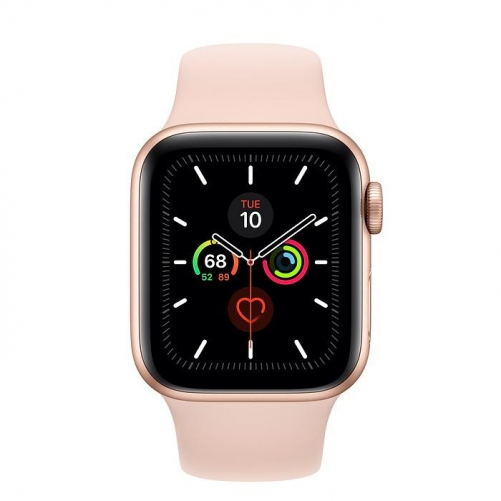 Смарт-часы Apple Watch Series 5 GPS 40mm Gold Aluminum w. Pink Sand b.- Gold Aluminum (MWV72)             Новинка