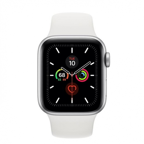 Смарт-часы Apple Watch Series 5 GPS 40mm Silver Aluminum w. White b.- Silver Aluminum (MWV62)             Новинка