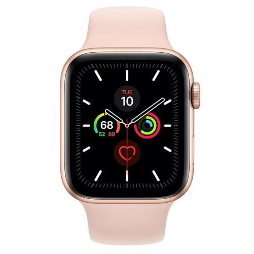Смарт-часы Apple Watch Series 5 GPS 44mm Gold Aluminum w. Pink Sand b.- Gold Aluminum (MWVE2)             Новинка