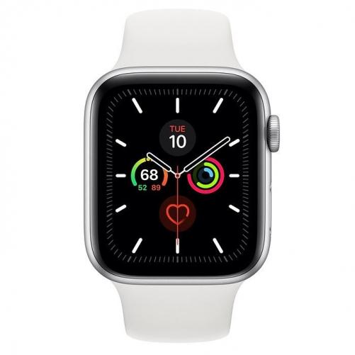 Смарт-часы Apple Watch Series 5 GPS 44mm Silver Aluminum w. White b.- Silver Aluminum (MWVD2)             Новинка