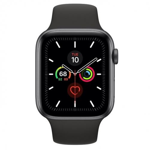 Смарт-часы Apple Watch Series 5 GPS 44mm Space Gray Aluminum w. Black b.- Space Gray Aluminum (MWVF2)             Новинка