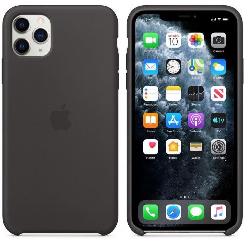 Чехол для смартфона Apple iPhone 11 Pro Max Silicone Case - Black (MX002)             Новинка