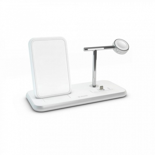 Беспроводное ЗУ для Apple Watch Zens Stand + Dock + Watch Aluminium Wireless Charger 10W White (ZEDC07W/00)             Новинка