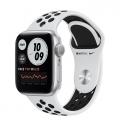 Смарт-годинник Apple Watch Nike Series 6 GPS 40mm Silver Aluminum Case w. Pure Platinum/Black Nike Sport B. (M00T3)             Новинка