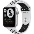 Смарт-годинник Apple Watch Nike Series 6 GPS 44mm Silver Aluminum Case w. Pure Platinum/Black Nike Sport B. (MG293)             Новинка