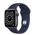 Смарт-годинник Apple Watch Series 6 GPS 40mm Space Gray Aluminum Case w. Deep Navy Sport B. (MG1A3)             Новинка