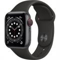 Смарт-годинник Apple Watch Series 6 GPS + Cellular 40mm Space Gray Aluminum Case w. Black Sport B. (M02Q3)             Новинка