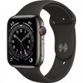 Смарт-годинник Apple Watch Series 6 GPS + Cellular 44mm Graphite Stainless Steel Case w. Black Sport B. (M07Q3)             Новинка