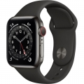 Смарт-годинник Apple Watch Series 6 GPS + Cellular 40mm Graphite Stainless Steel Case w. Black Sport B. (M02Y3)             Новинка