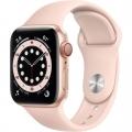 Смарт-годинник Apple Watch Series 6 GPS + Cellular 40mm Gold Aluminum Case w. Pink Sand Sport B. (M02P3)             Новинка