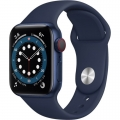 Смарт-годинник Apple Watch Series 6 GPS + Cellular 40mm Blue Aluminum Case w. Deep Navy Sport B. (M02R3)             Новинка