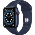 Смарт-годинник Apple Watch Series 6 GPS + Cellular 44mm Blue Aluminum Case w. Deep Navy Sport B. (M07J3)             Новинка