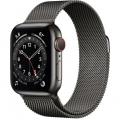 Смарт-годинник Apple Watch Series 6 GPS + Cellular 40mm Graphite Stainless Steel Case w. Graphite Milanese L. (MG2U3)             Новинка