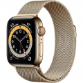 Смарт-годинник Apple Watch Series 6 GPS + Cellular 40mm Gold Stainless Steel Case w. Gold Milanese L. (M02X3)             Новинка